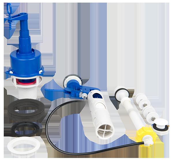 Pre-fill top flush close couple cistern kit