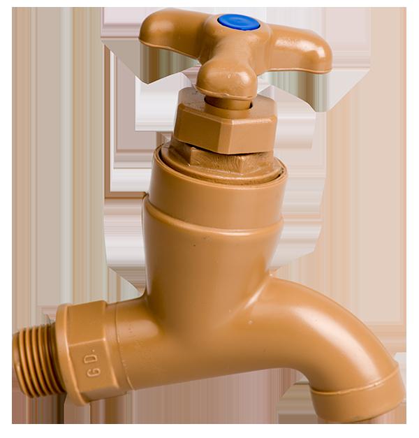 Plain plastic bib tap