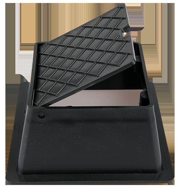 Black stop-tap box