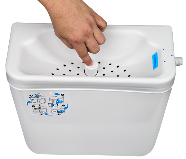 Waterwise toilet cistern with basin